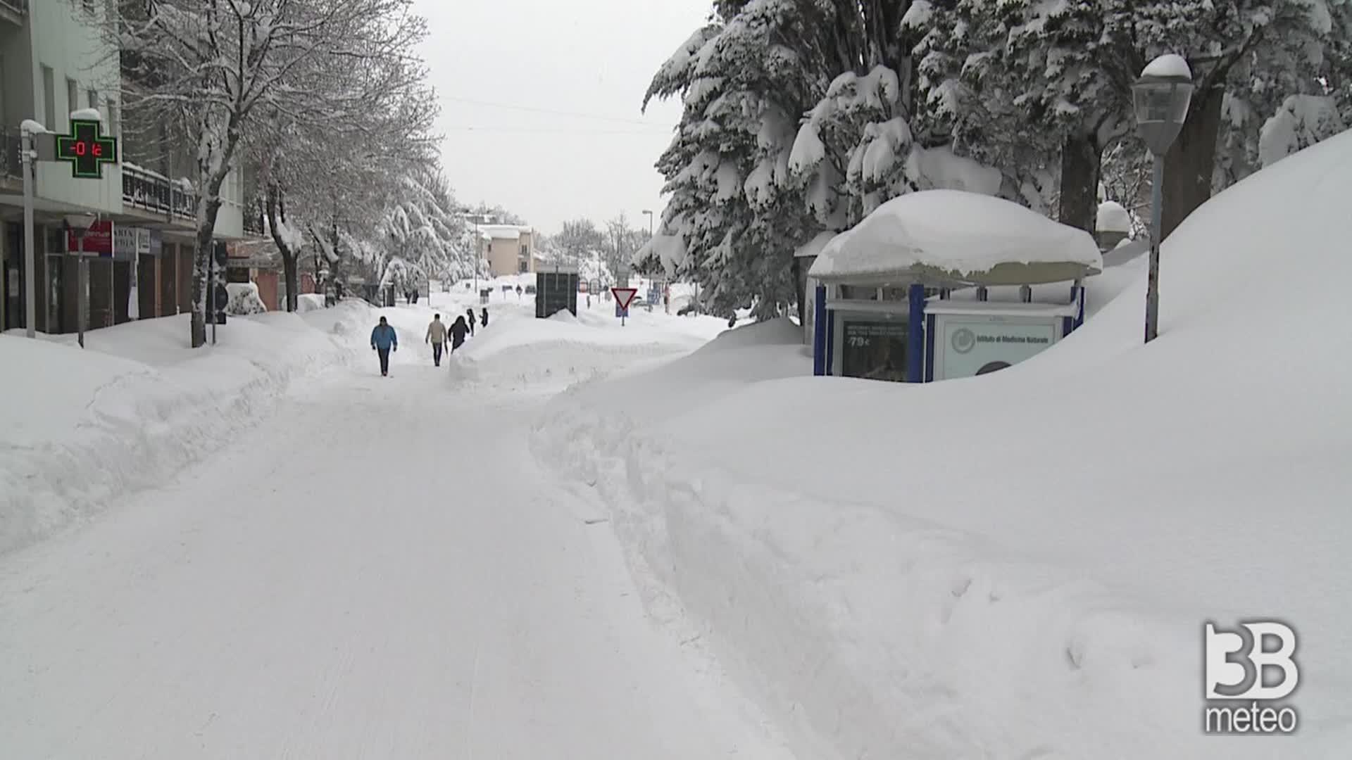 3 metri di neve a Urbino: la storica nevicata del 2012