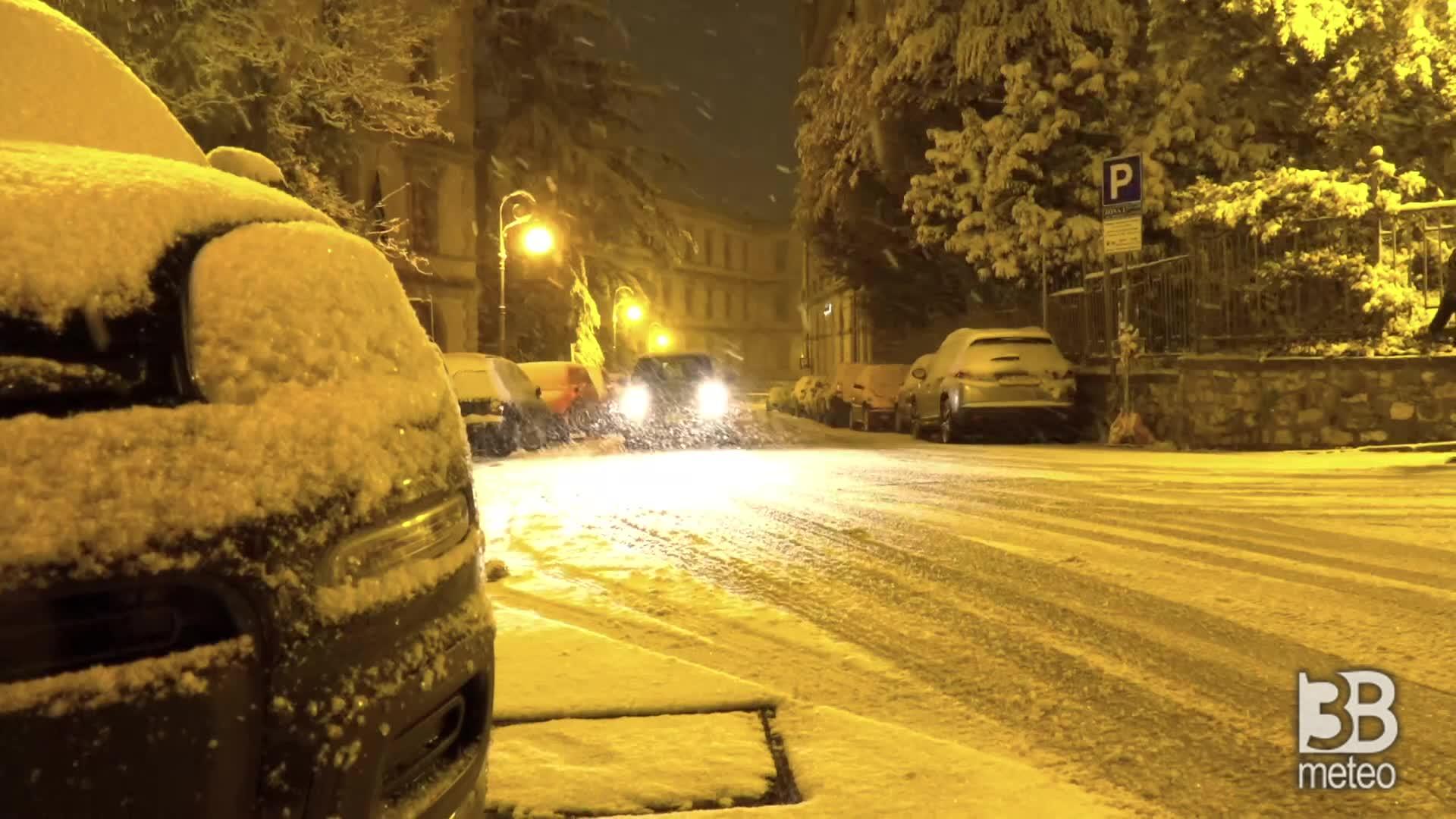 Nevica in Basilicata: Potenza nella serata di sabato