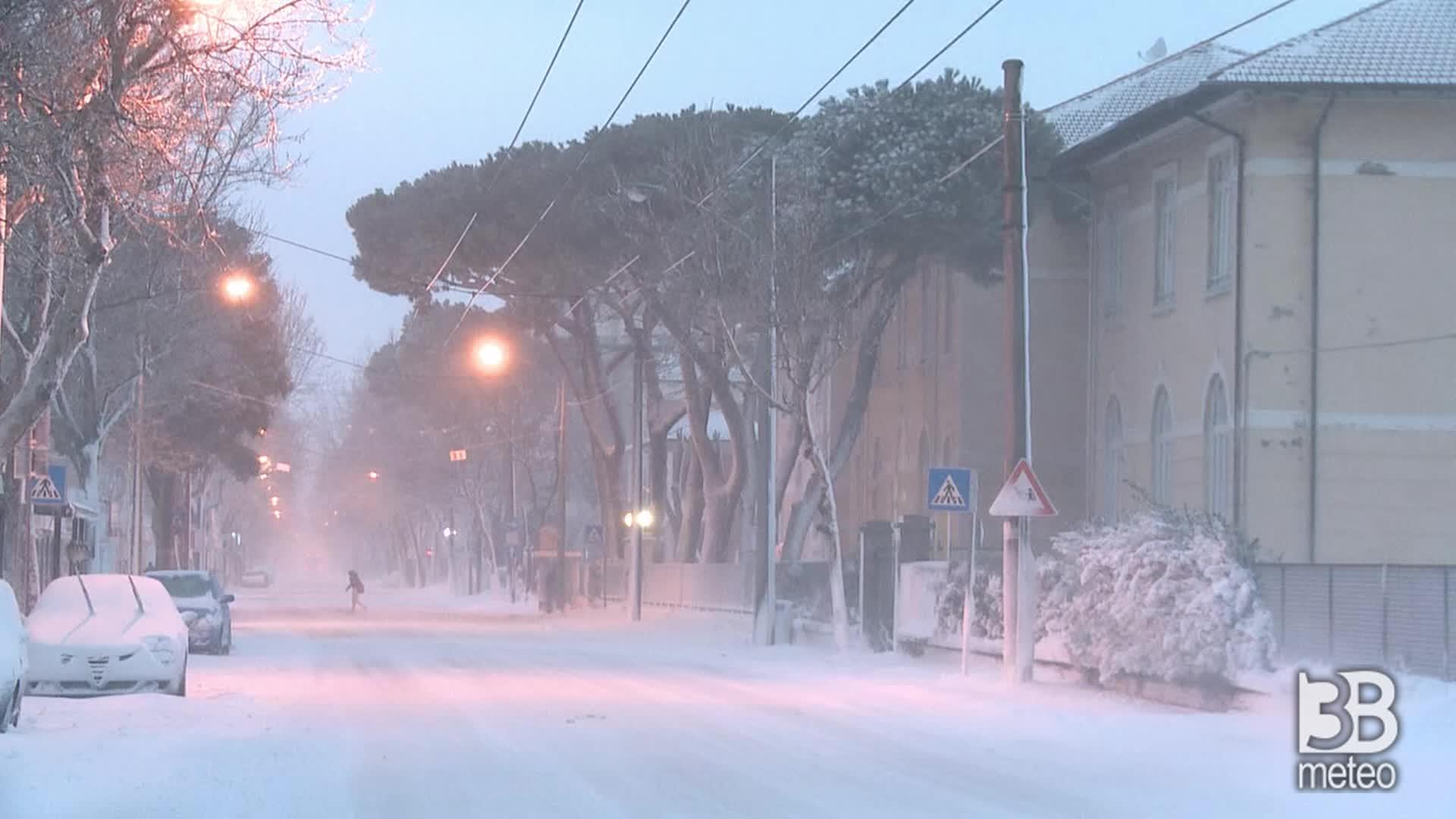 La grande nevicata del 2012: blizzard nevoso colpisce Rimini