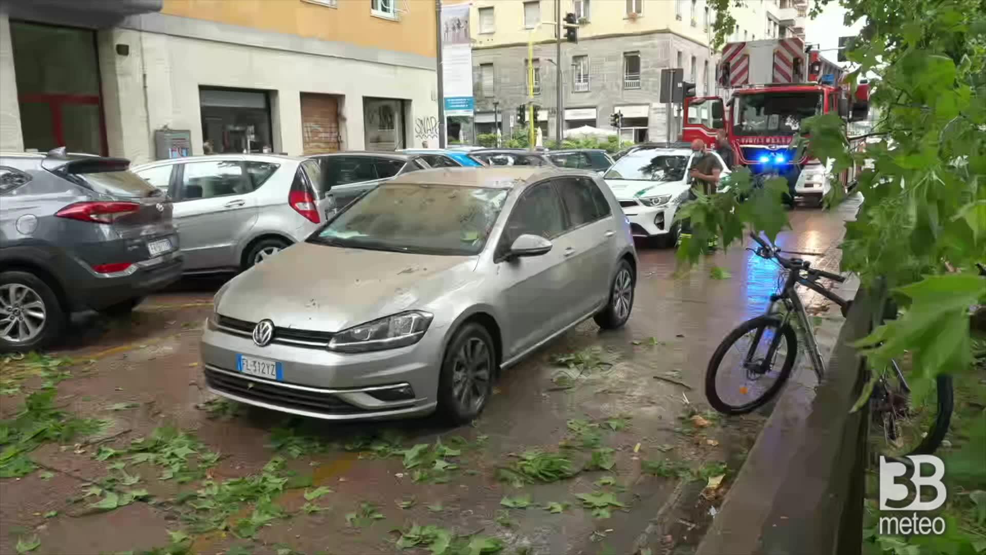 Milano, violento temporale: allagamenti e danni