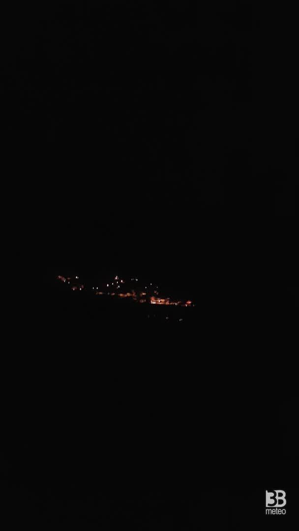 VIDEO, i temporali della notte del 1° Agosto visti dalla val d'Adige