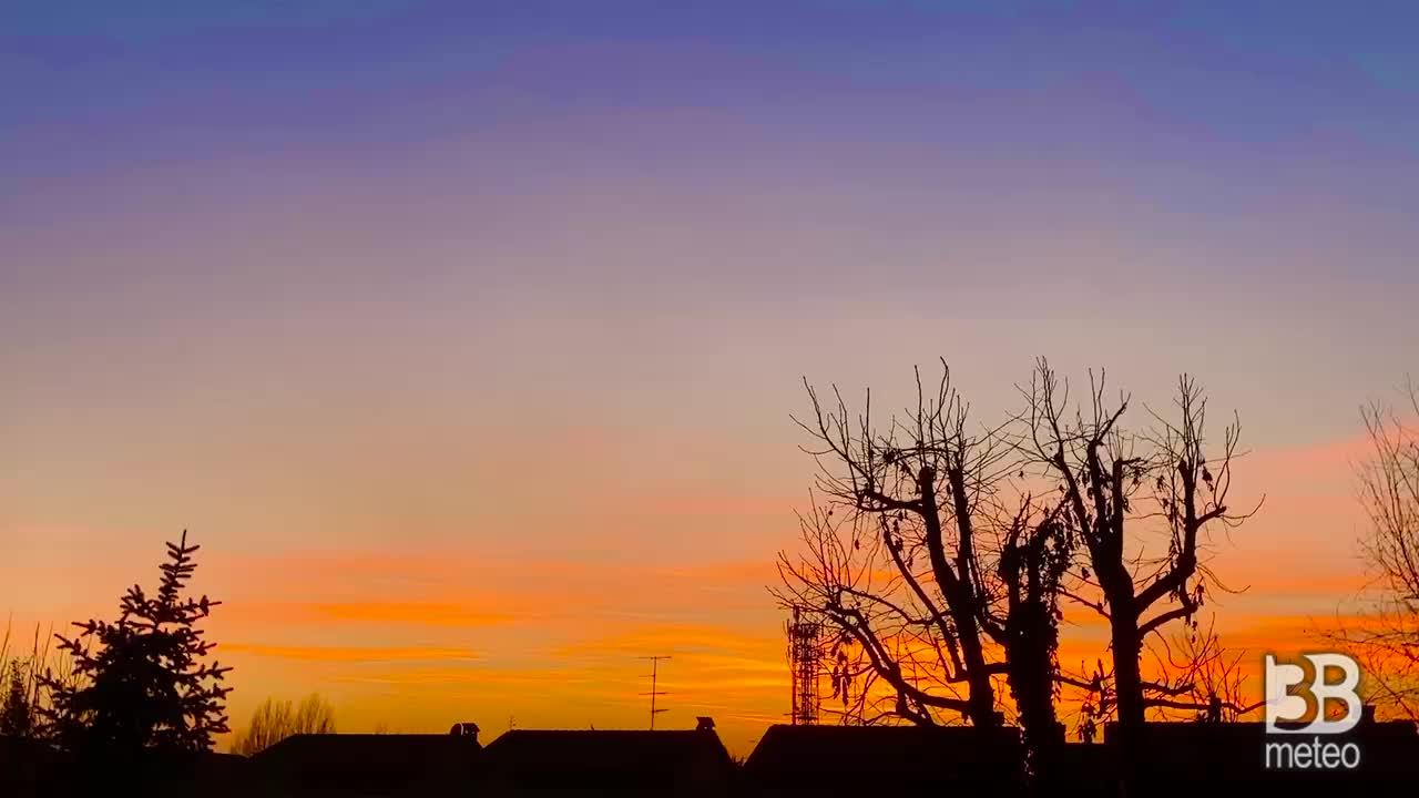 Bel tramonto stasera