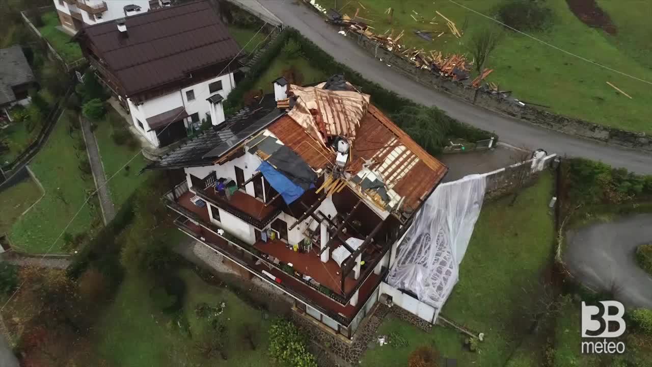 Case scoperchiate dal drone