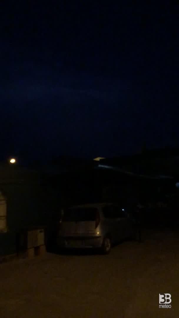 CRONACA METEO - TEMPORALI serali sull'Appennino Meridionale, la situazione in Provincia di BENEVENTO - VIDEO