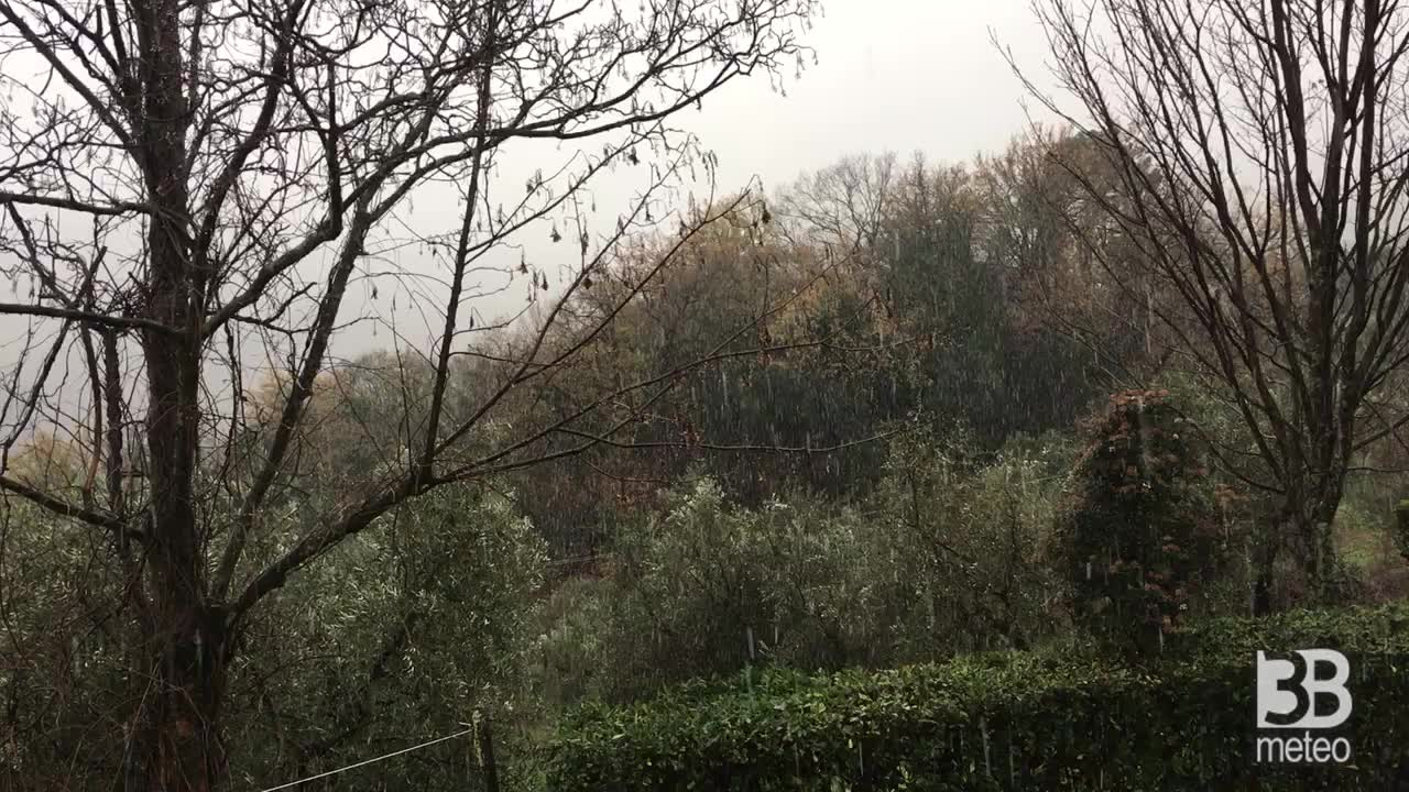 Neve 6 gennaio 21 a montecatini