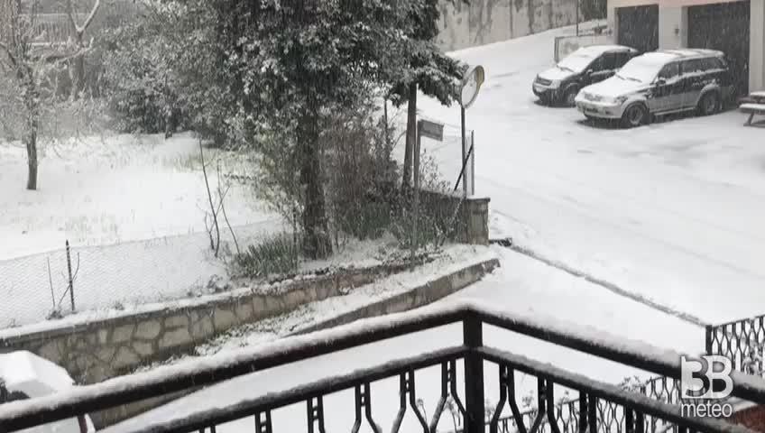 CRONACA METEO DIRETTA. Neve a Cingoli durante la quarantena da Coronavirus - VIDEO