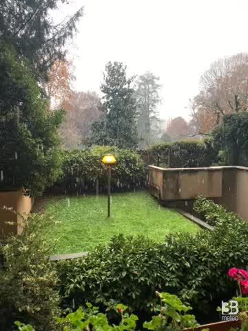 CRONACA METEO DIRETTA - E' arrivata la NEVE in Val Padana, imbiancata MONZA - VIDEO