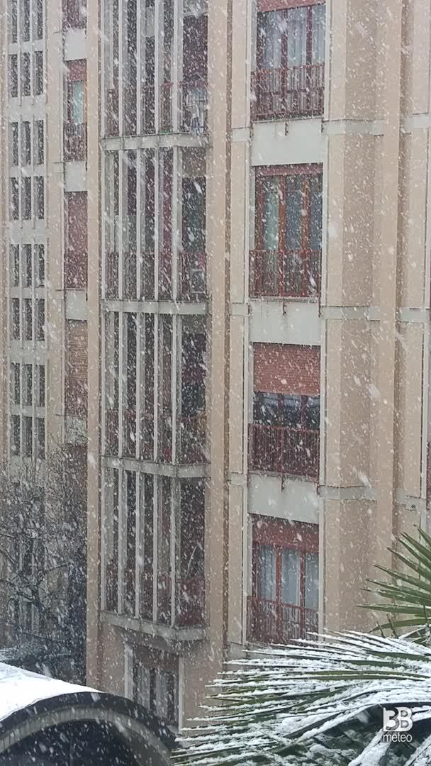 Nevicata a novara