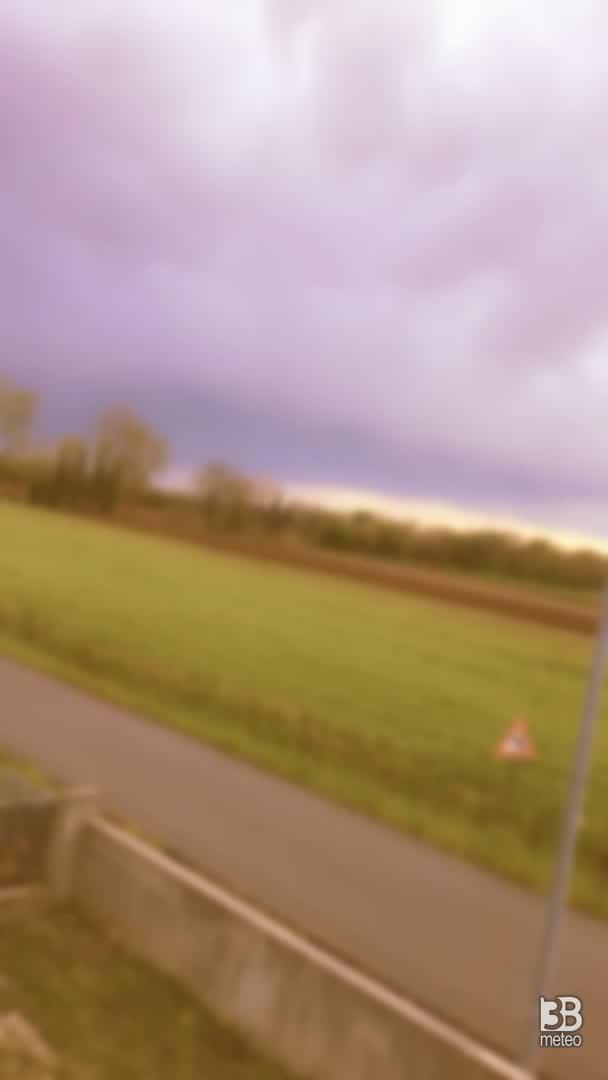 Nuvoloso, ha appena smesso di piovere