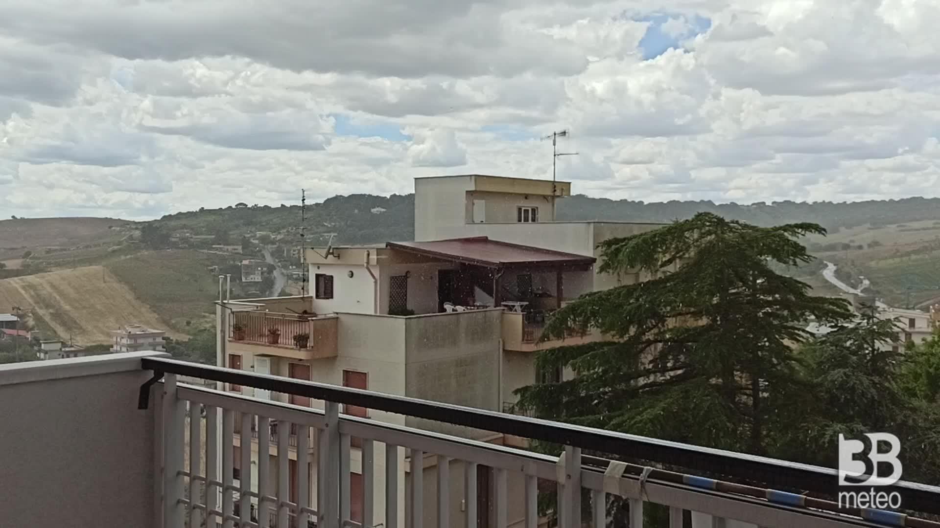 Cronaca meteo video: pioggia a Ginosa