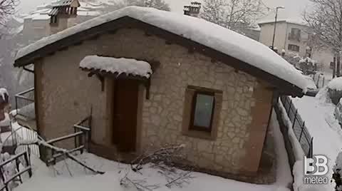 Poggetello Nevicata del 09 gennaio 2021