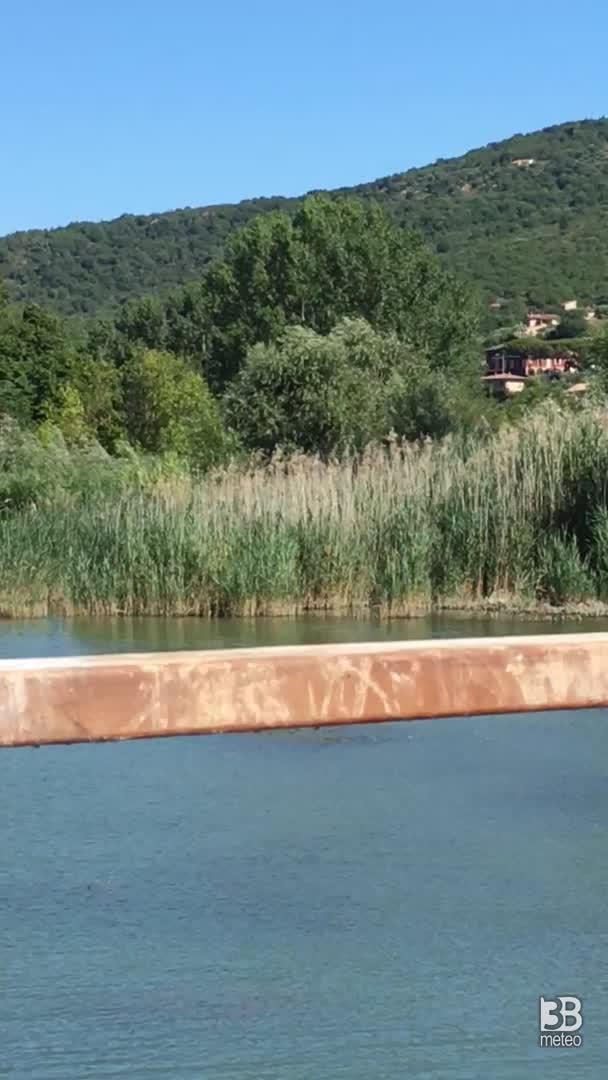 Cronaca METEO VIDEO, panoramico sul lago Trasimeno