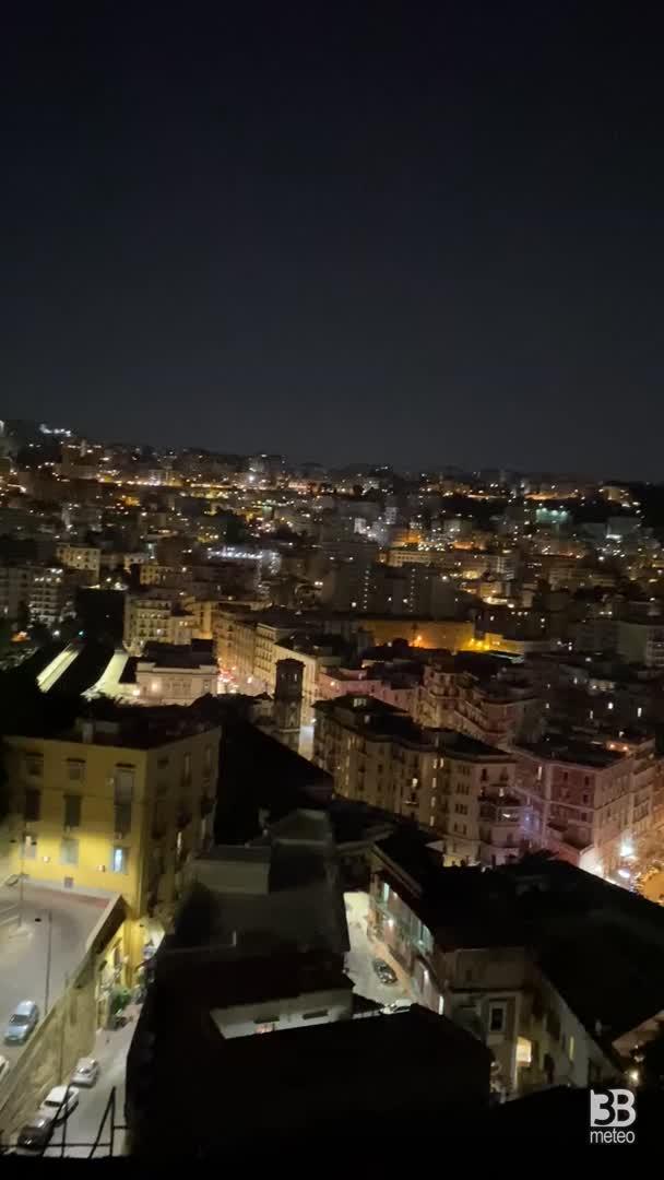 Splendida serata dal belvedere di Posillipo, Napoli