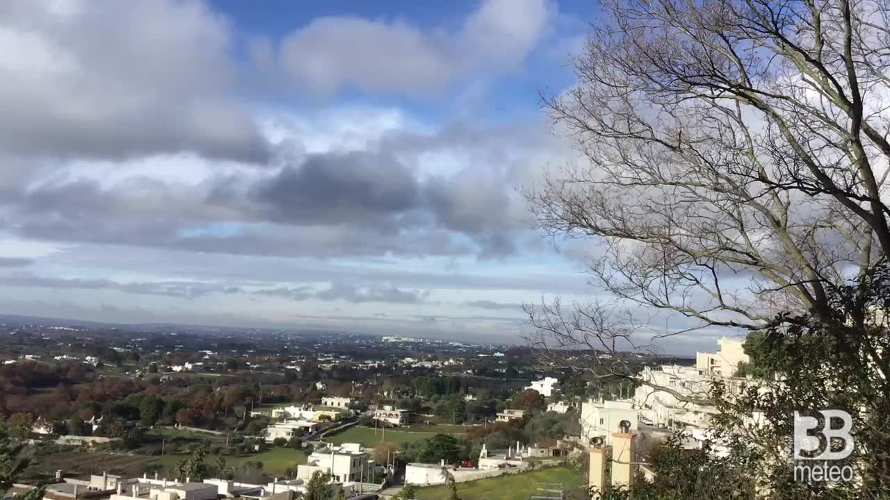 Cronaca meteo video: Cisternino, Valle d'Itria