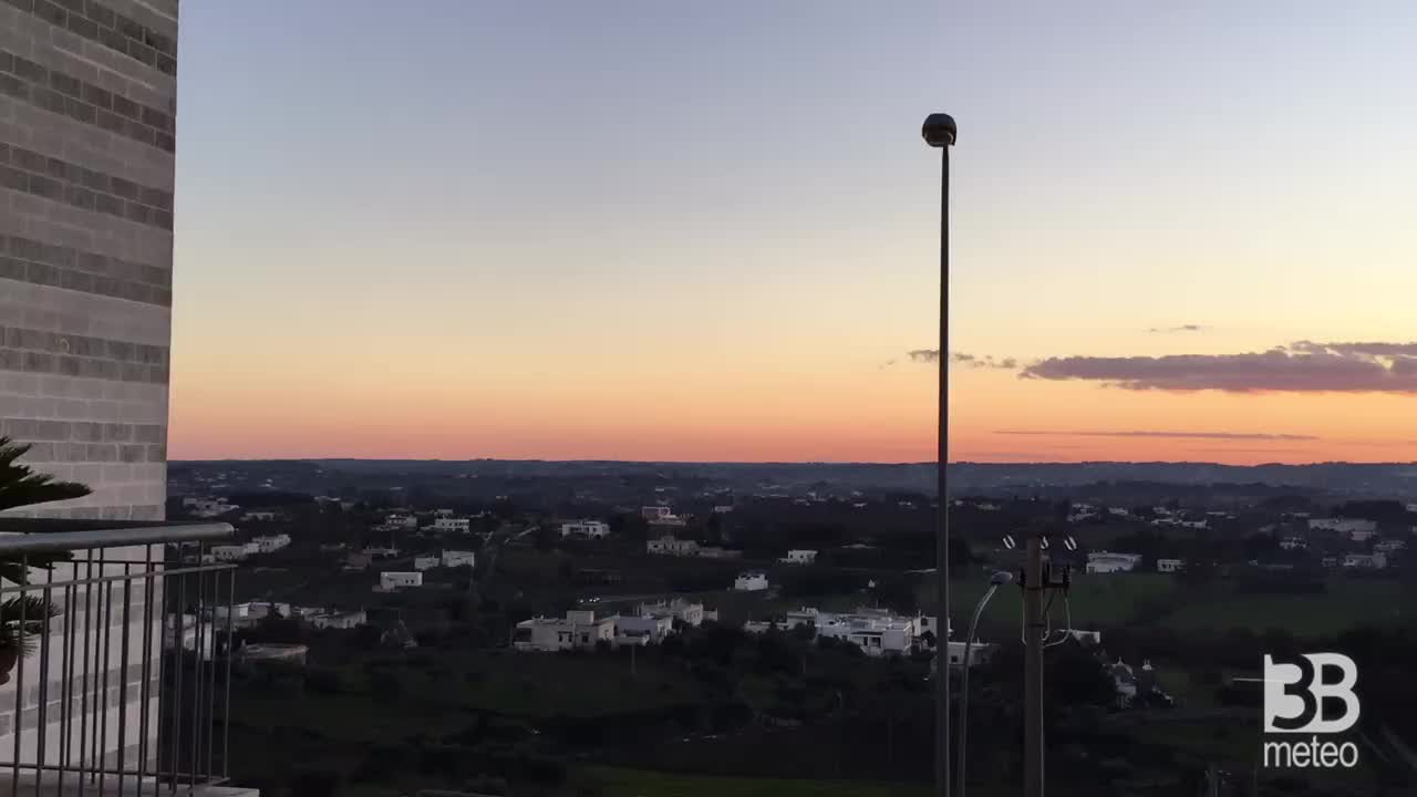 Panorama al tramonto da cisternino