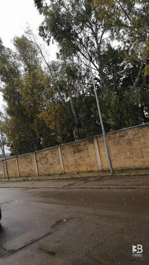 Cronaca meteo diretta: neve in provincia di Lecce Via olimpia matino- Video