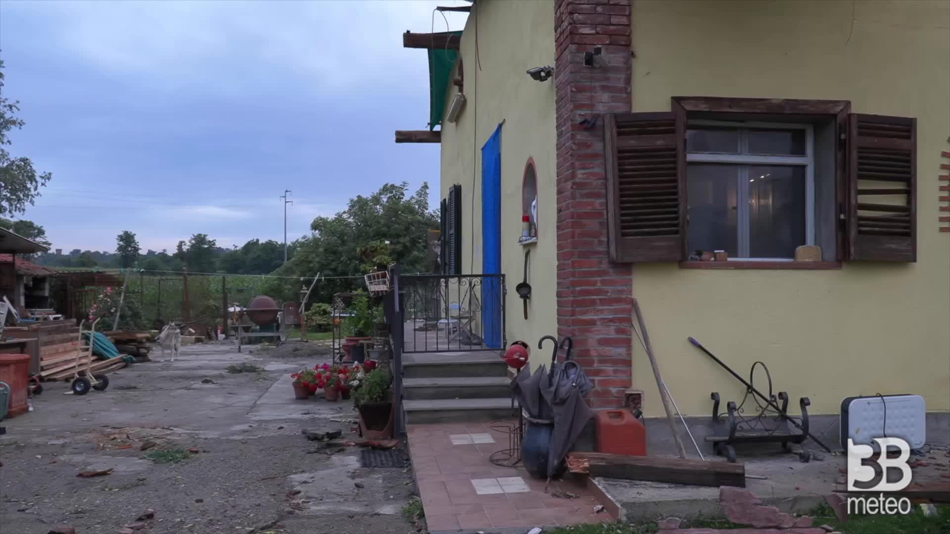 Maltempo colpisce il canavese: casa scoperchiata a Ozegna