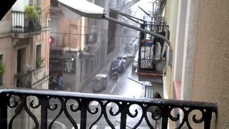 pioggia a Barcellona
