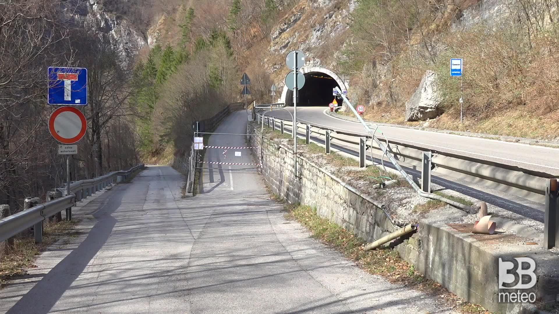 Frana a Pontet : Chiusa la ciclabile
