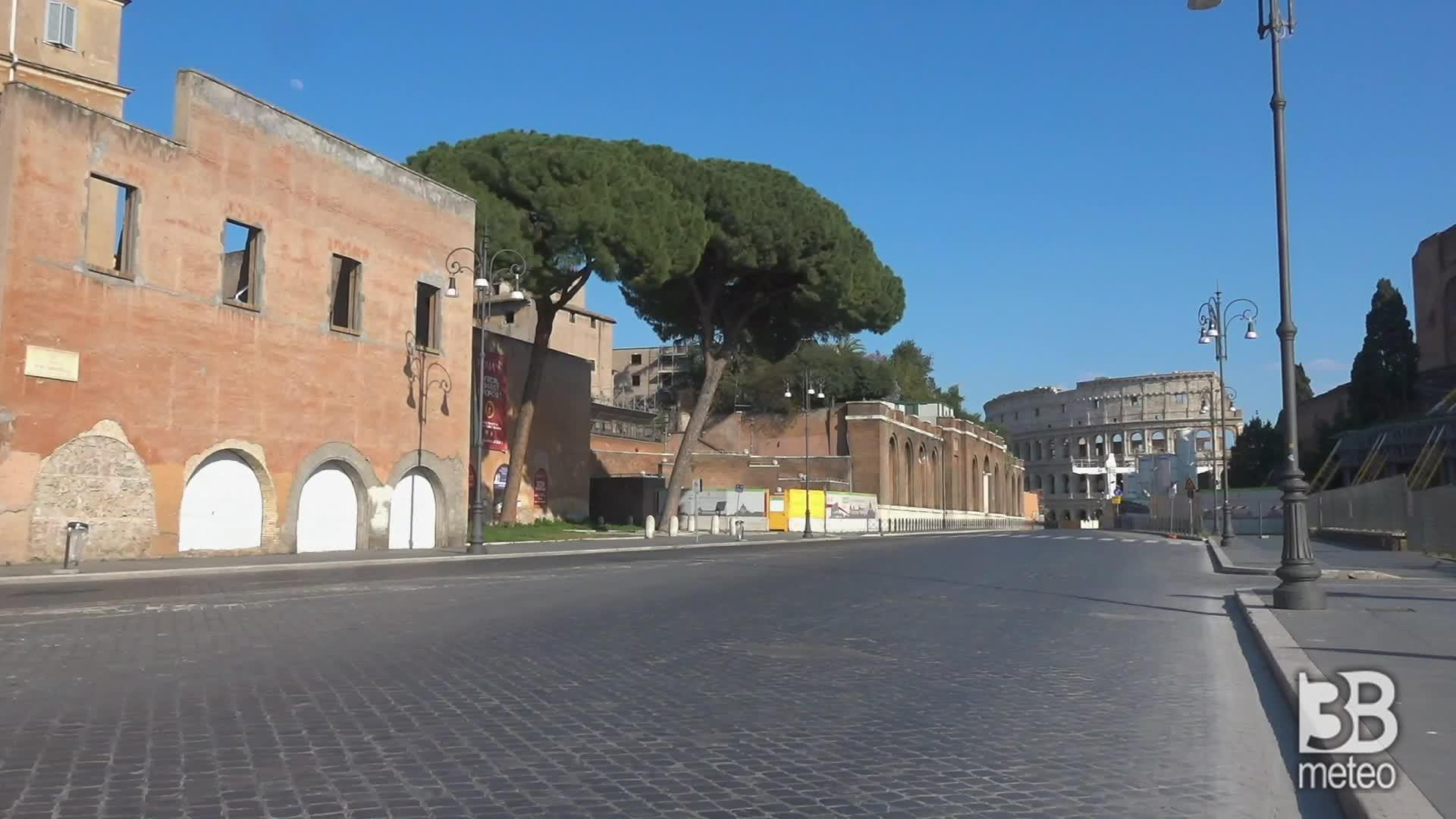 Coronavirus, Roma deserta: i luoghi simbolo della città