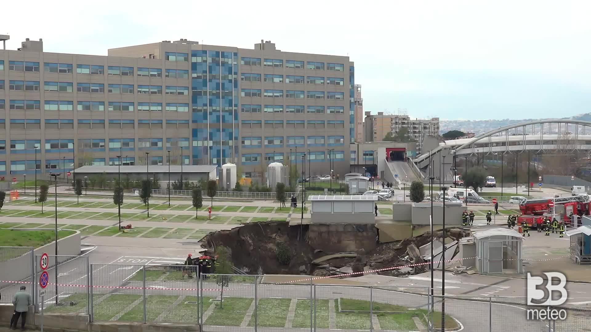 Napoli, unità cinofile vvf: verifiche nel cratere voragine