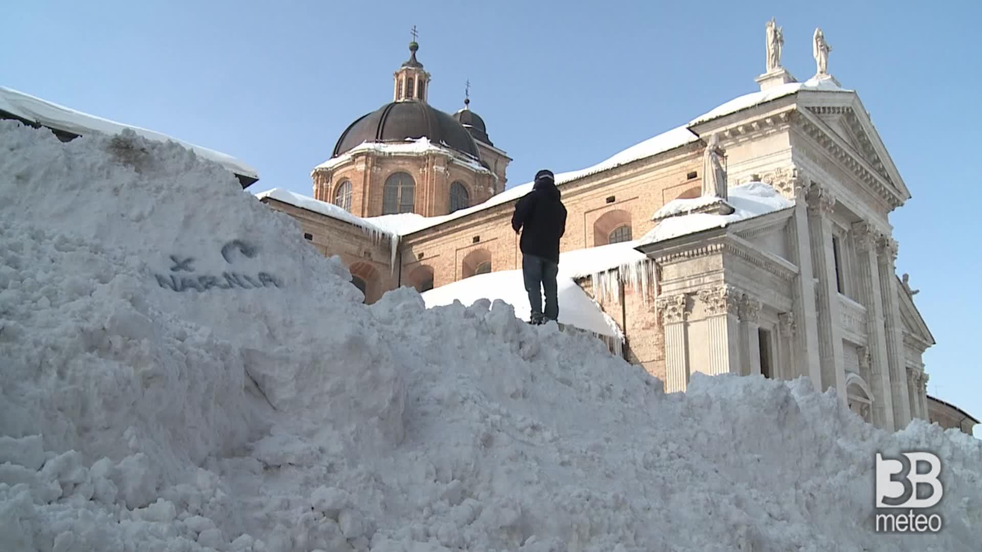 2012, Urbino sommersa dalla neve: i giorni dell'emergenza