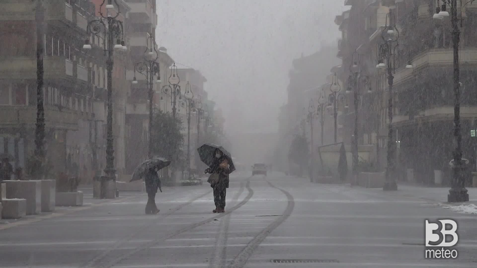Neve ad Avellino: la situazione nel pomeriggio