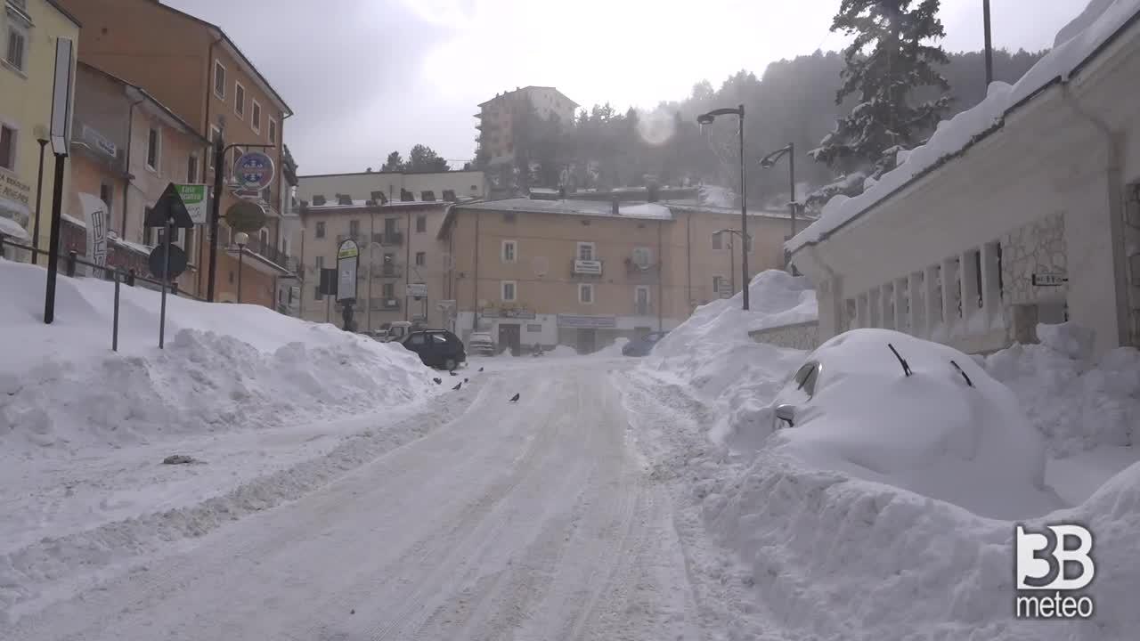 Roccaraso quinto giorno di neve