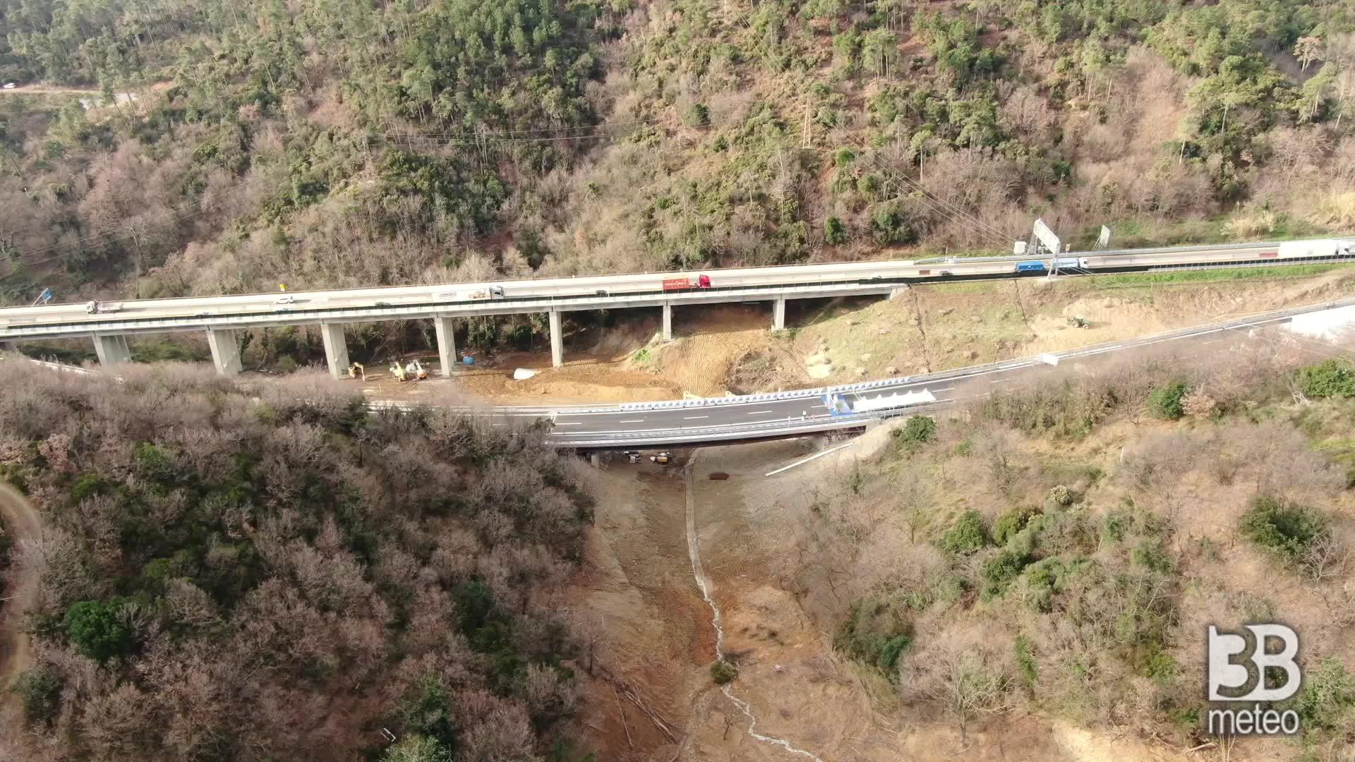 A6, inaugurazione nuovo viadotto: le immagini dal drone