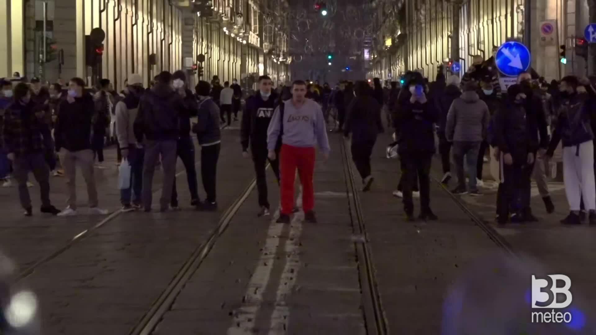 Manifestazione Torino: prime immagini serata