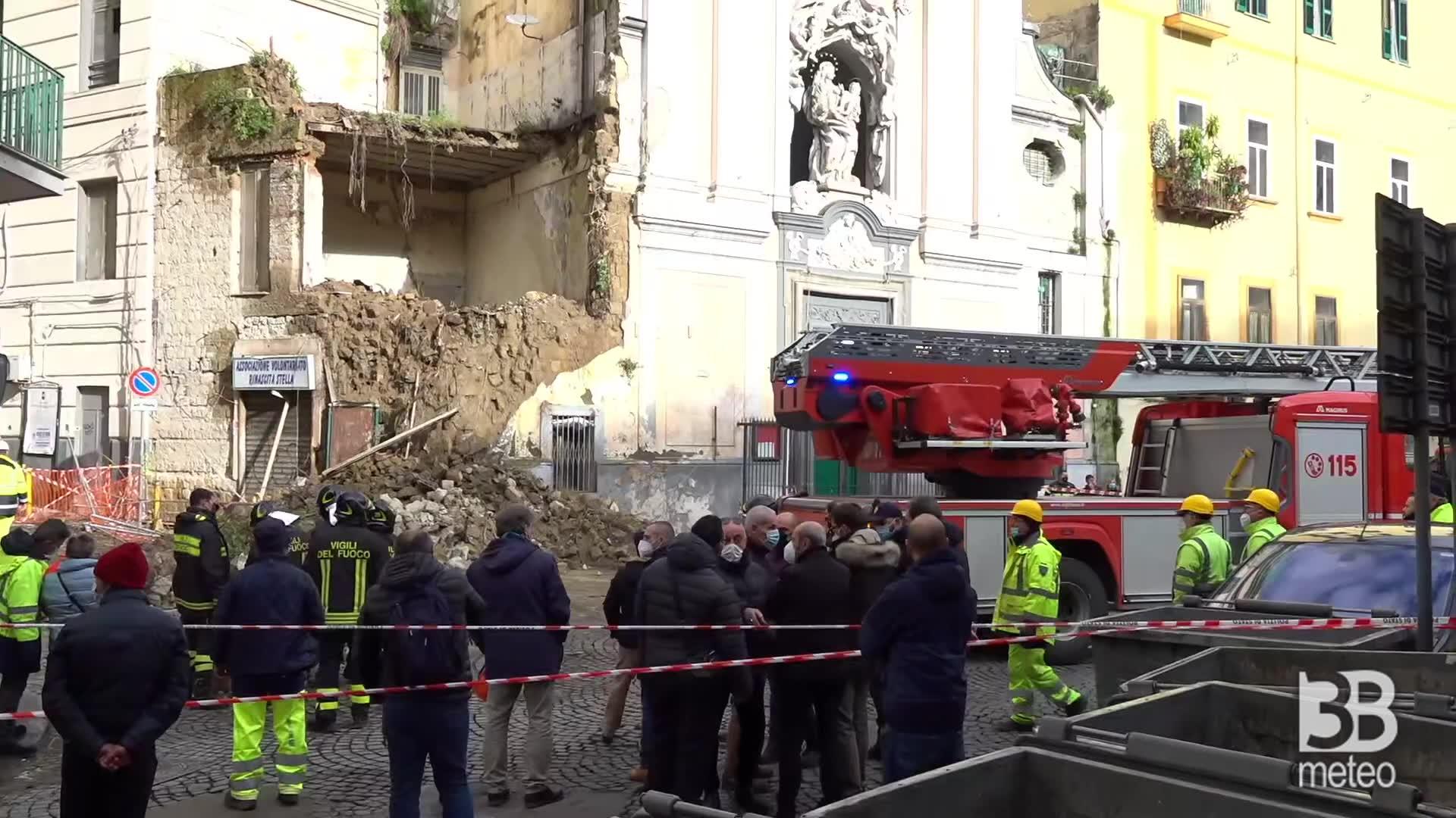 Crollo chiesa a Napoli: Santa Maria del Rosario